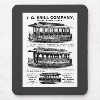 Brill Company Streetcars and Trolleys Mousepad