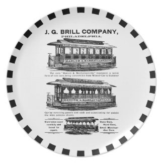 Brill Company Streetcars and Trolleys Party Plate