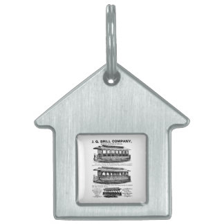 Brill Company Streetcars and Trolleys Pet Tags
