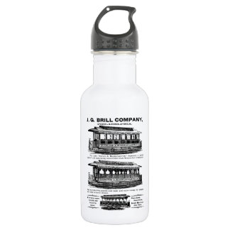 Brill Company Streetcars and Trolleys 18oz Water Bottle