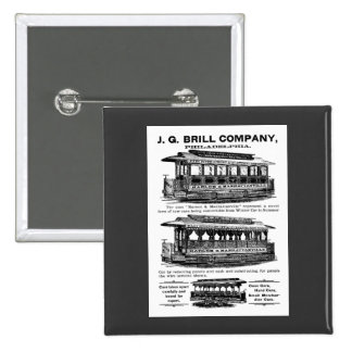 Brill Company Streetcars and Trolleys Pinback Button
