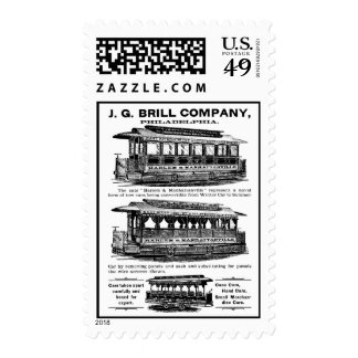 Brill Company Streetcars and Trolleys Postage Stamps