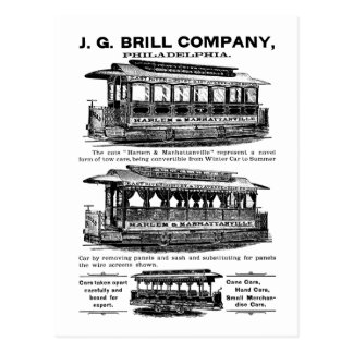 Brill Company Streetcars and Trolleys Postcard