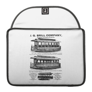 Brill Company Streetcars and Trolleys Sleeve For MacBook Pro