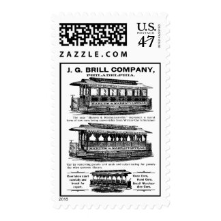 Brill Company Streetcars and Trolleys Stamp