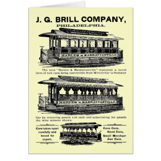 Brill Company Streetcars and Trolleys Stationery Note Card