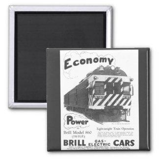 Brill Light-Weight  Passenger Train 1932 Fridge Magnets