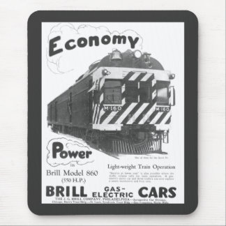 Brill Light-Weight  Passenger Train 1932 Mouse Pad