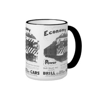 Brill Light-Weight  Passenger Train 1932 Ringer Mug