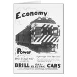 Brill Light-Weight  Passenger Train 1932 Stationery Note Card