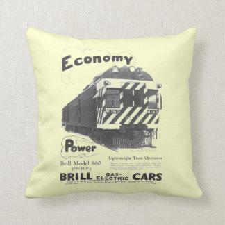 Brill Light-Weight  Passenger Train 1932 Throw Pillow