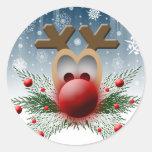 Brilla intensamente tan pegatina del navidad del