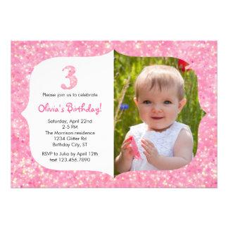 Brilla la tercera invitación del cumpleaños