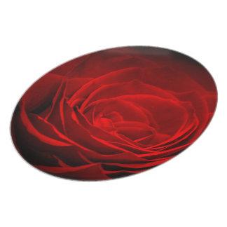 Brillant Red Rose Melamine Plate