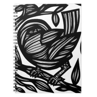 Brillante aseado tranquilo chispeante spiral notebooks