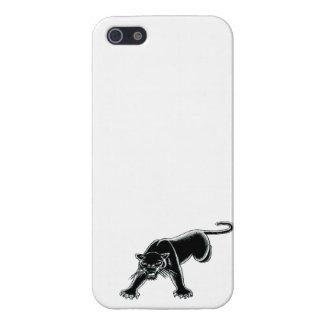 Brillante blanco de la pantera negra iPhone 5 funda