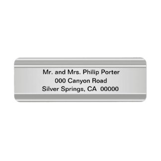 Brillante de plata etiqueta de remitente