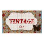 Brillante, el vintage inspiró tarjetas de visita