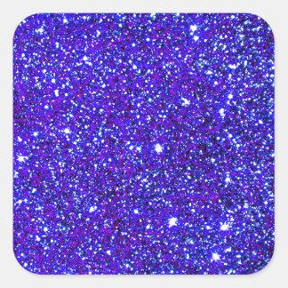 Brillante infinito del universo de la chispa del pegatina cuadrada