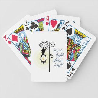 Brillante ligero baraja cartas de poker