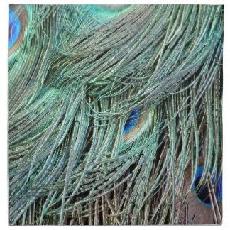 brillante pluma manchada Peafowl Servilleta
