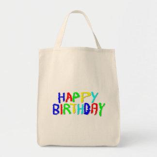 Brillante y colorido. Feliz cumpleaños Bolsas De Mano