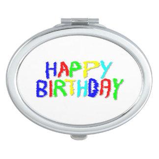 Brillante y colorido. Feliz cumpleaños Espejo De Maquillaje