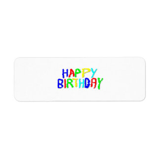 Brillante y colorido. Feliz cumpleaños Etiqueta De Remitente
