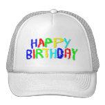 Brillante y colorido. Feliz cumpleaños Gorro