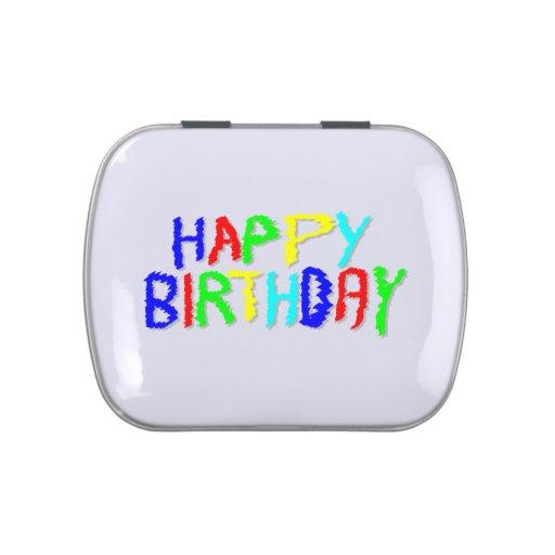 Brillante y colorido. Feliz cumpleaños Jarrones De Caramelos
