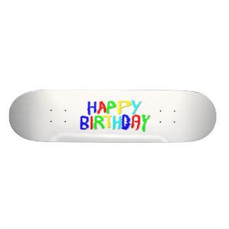 Brillante y colorido. Feliz cumpleaños Patin