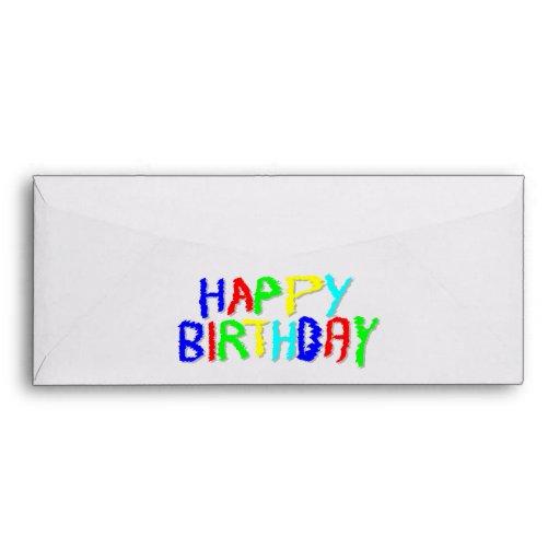 Brillante y colorido. Feliz cumpleaños Sobre