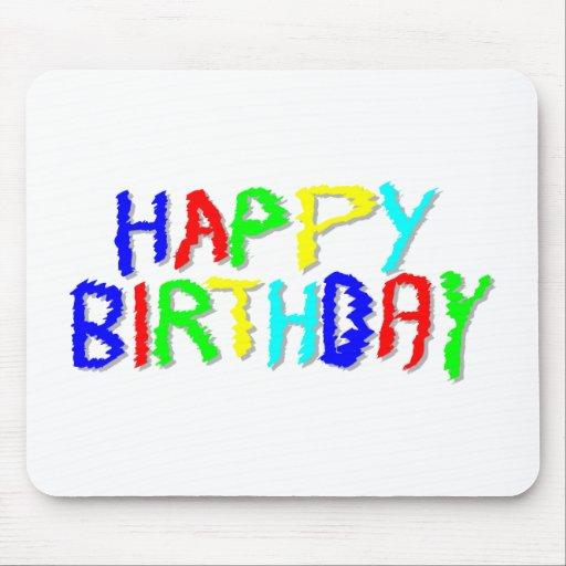 Brillante y colorido. Feliz cumpleaños Tapete De Raton