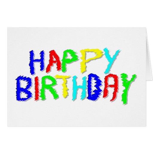 Brillante y colorido. Feliz cumpleaños Felicitaciones
