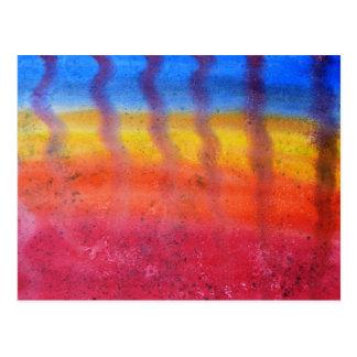 Brillante y colorido. Modelo rojo, azul y amarillo Tarjetas Postales