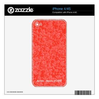 Brillantez AMBARINA caliente - añada su texto en iPhone 4S Skins