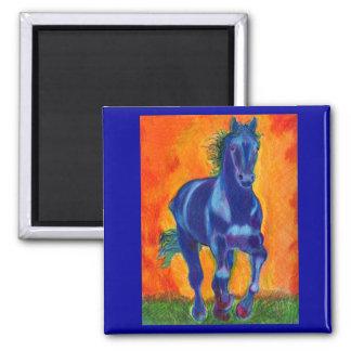 Brillian Blue Horse Magnet