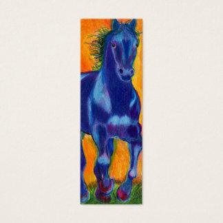 Brillian Blue Horse Mini Business Card