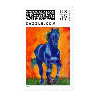 Brillian Blue Horse Postage