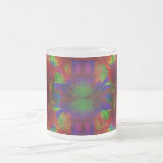 Brilliance Cross Frosted Glass Coffee Mug