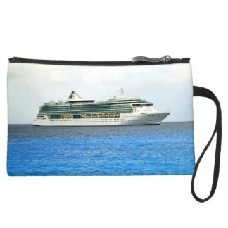 Brilliance in the Caymans Cruise Travel Suede Wristlet
