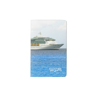 Brilliance in the Caymans Monogrammed Pocket Moleskine Notebook