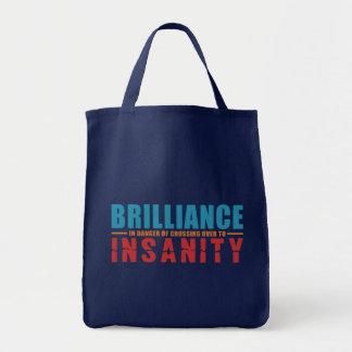 BRILLIANCE VS INSANITY bag – choose style, color