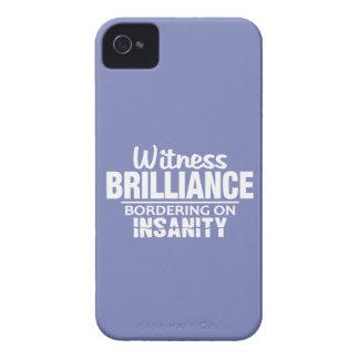 BRILLIANCE VS INSANITY custom Blackberry case