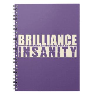 BRILLIANCE VS INSANITY custom notebook