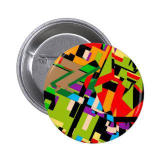 Brilliant Abstract Design Pinback Button