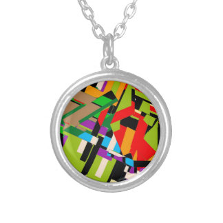 Brilliant Abstract Design Silver Plated Necklace