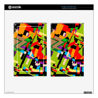 Brilliant Abstract Design Skin For Kindle Fire