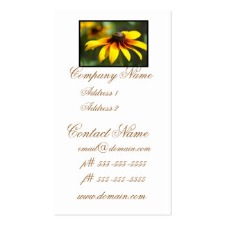 Brilliant Black Eyed Susans Business Card Template