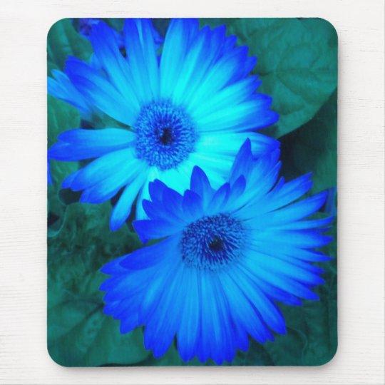 Brilliant Blue Daisies 2 Mouse Pad